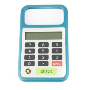 Tip 'n Split Tip n Split Tip Calculator with Magnifier and Light, Teal Blue