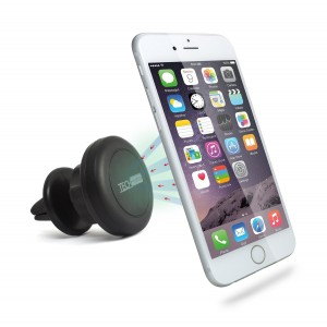 Vent Mount, TechMatte MagGrip 360 Air Vent Mount Magnetic Multi-Angle Universal Car Mount Holder for Smartphones including iPhone 7, 6, 6S, Galaxy S7, S7 Edge - Black