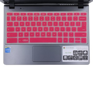 "Casiii Acer Chromebook Keyboard Cover Cb3 111 for Chromebook 11.6 "" Cb3-111 C670 C8ub C720 C720P (Us Layout) Top Quality Silicon Chromebook Accessories with 80+ 5 Stars Customers Rating - Pink"
