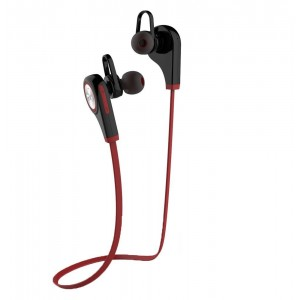 OXoqo Fashion Wireless Bluetooth Sport Earphone, Workout Exercise Running Gym in-ear headphones with Mic, Compatible with iPhone iPad and Android Phones(Red)