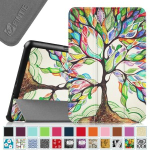 Fintie Samsung Galaxy Tab A 8.0 Smart Shell Case - Ultra Slim Lightweight Stand Cover with Auto Sleep/Wake Feature for Samsung Galaxy Tab A 8-Inch Tablet SM-T350, Love Tree