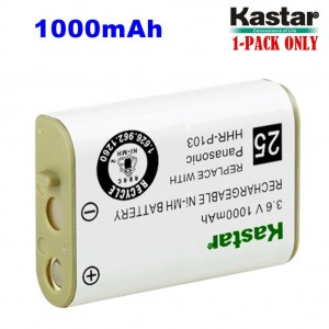 Kastar HHR-P103 Battery, Type 25, NI-MH Rechargeable Battery 3.6V 1000mAh Replacement for Panasonic HHR-P103 / P-P103, ATandT, GE, Vtech Cordless phone (Detail Models in the Description)