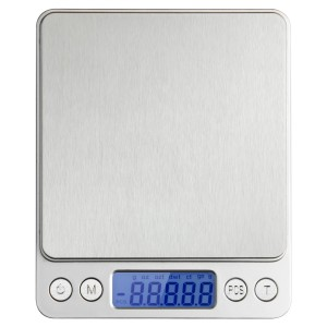 WAOAW 3000g/0.1g Digital Pocket Stainless Kitchen Food Scale, 0.01oz Resolution