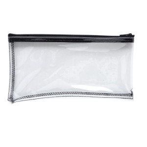 MMF Industries Vinyl Zipper Wallet, 11 x 6 Inches, Clear (234041720)