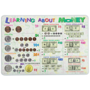 "Painless Learning ""Learning About Money"" Placemat"