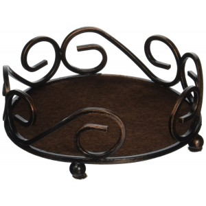 Thirstystone Round Scroll Holder, Bronze