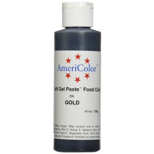 Americolor Soft Gel Paste Food Color, 4.5-Ounce, Gold