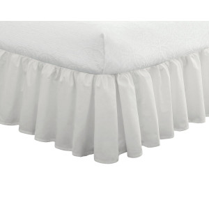 Fresh Ideas Ruffled Poplin Bedskirt Full, White