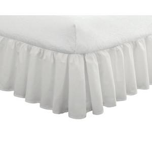 Fresh Ideas Ruffled Poplin Bedskirt Full, White