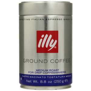 illy, Ground Coffee Drip Grind (Medium Roast, Blue Band), 8.8 Ounce Tin