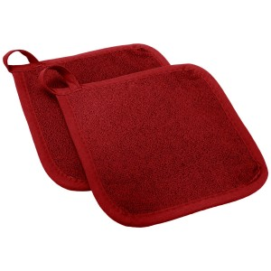 Ritz Royale Collection Pot Holder Set, Paprika, 2-Piece