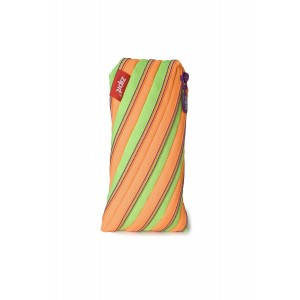 "ZIPIT Twister Pencil Case, Lime and Orange, 7.87""x1.2""x4.72"" / 20x3x12cm (ZTE-4)"