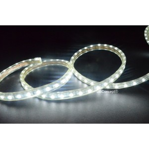 CBConcept UL Listed, 6.6 Feet, Super Bright 1800 Lumen, 6000K Pure White, Dimmable, 110-120V AC Flexible Flat LED Strip Rope Light, 120 Units 5050 SMD LEDs, Waterproof IP65, Accessories Included, Size: 0.57 Inch Width X 0.33 Inch Thickness- [Christmas Lig
