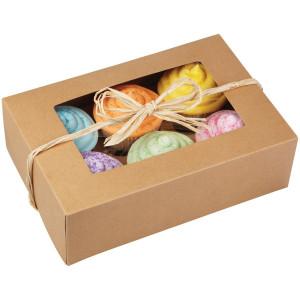 Wilton 415-0740 2-Pack 6-Cavity Cupcake Box, Kraft