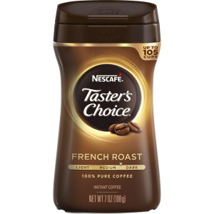 Nescafe Taster's Choice French Roast Instant Coffee, 7 Ounce Canister
