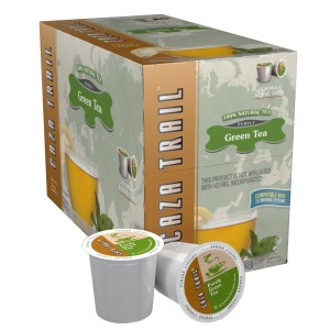 Caza Trail Tea, Green Tea, 24 Single Serve Cups