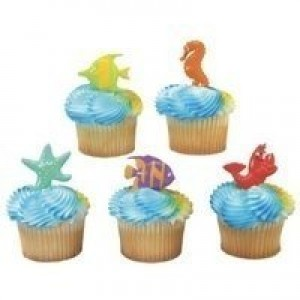 DecoPac Sealife Friends Cupcake Picks - set of 24