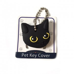 Key Cover / Key Caps / Key Holder / Keycaps - Cute Animal Pet Faces (Black Cat) by Field Point