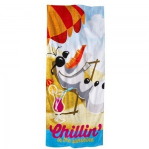 Disney FROZEN 'Chillin' 100% Cotton Beach Towel, 28 in.x 58in.