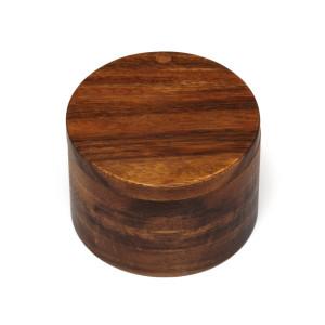 Lipper International Acacia Salt Box with Swivel Cover