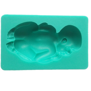 FUNSHOWCASE Large Sleeping Baby Silicone Mold For Cake Decoration Candy Soap Mold