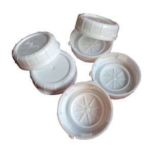 The Dairy Shoppe Replacement Glass Milk Bottle Caps, Fits 48 mm Libbey and Stan-Pac (Pack of 6)