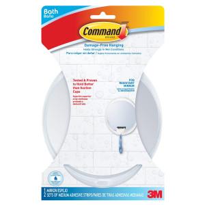 Command BATH15-ES-E 1 Mirror 2 Water Resistant Strips Fog Resistant Mirror