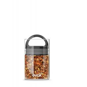 Prepara EVAK Glass Food Storage Container with Black Gloss Handle, Mini