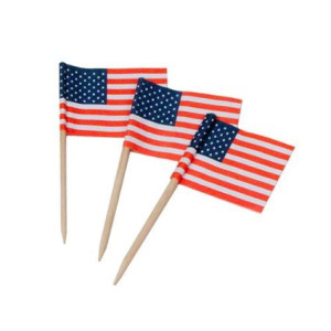 Royal 100 Count American Flag Picks, Multicolored