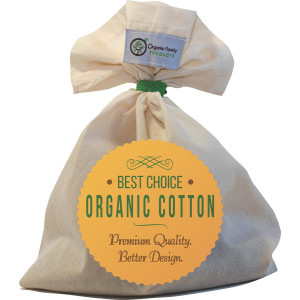 Organic Family Products Almond Milk Bag Organic Cotton - Better Design with No Seam Bottom - For More Than Homemade Nut Mi