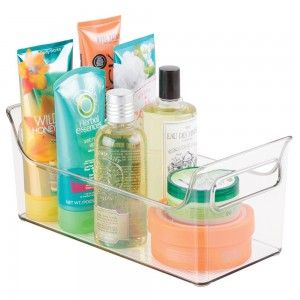 MetroDécor mDesign Portable Bathroom Vanity Under Cabinet Health and Beauty Supplies Caddy Organizer