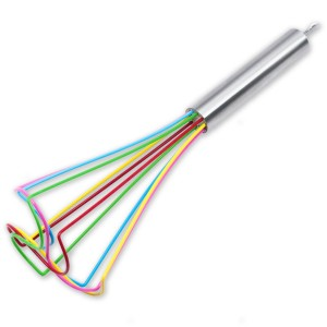 KitchenGear Silicone Coated Wire Tornado Egg Whisk - Kitchen Utensil for Sauces, Roux and Gravy - 10-inch