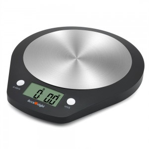 Accuweight Stainless Steel Digital Kitchen Food Scale, Electronic Cooking Scale, 0.1oz to 11lbs Ca