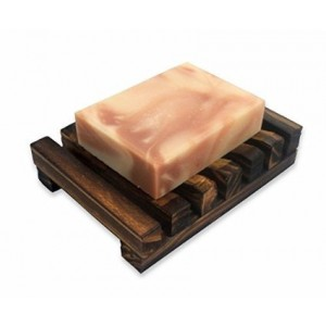 FINGER LOVE Black Friday Sale!! Dark Brown Hawaii Style Bathroom Sink Deck Soap Holder Wooden Soap Dish Rectan
