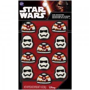Wilton 12 Count Star Wars Icing Decorations, Black