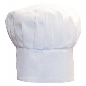 Obvious Chef - White Chefs Hat - Adjustable Velcro Fit - Adult (White)