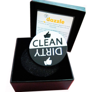 Dishwasher Magnet by De Dazzle with Clean Dirty Sign. Big Fonts for Easy Visibility