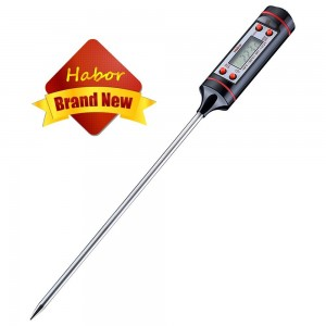 Latest Cooking Thermometers, Habor Digital Stainless Cooking Thermometer with Instant Read, Long Probe, LCD Screen, Anti-Corrosion, Best for Food, Meat, Grill, BBQ, Milk, and Bath Water