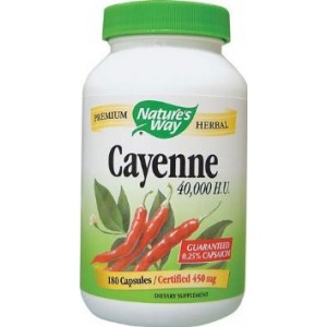 Nature's Way - Cayenne, 450 mg, 100 capsules