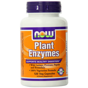 3M NOW Foods Plant Enzymes, 120 Vcaps