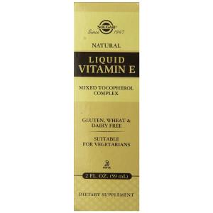 Solgar Natural Liquid Vitamin E Mixed Tocopherol Complex Dropper, 2 fl oz