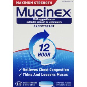 Mucinex Maximum Strength Extended-Release Bi-Layer Tablets, 14 Count