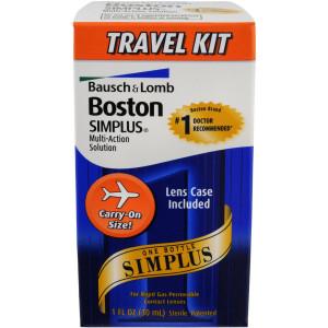 Boston Multi-Action Solution, Simplus Travel Kit, 1-Ounce Bottles (Pack of 3)