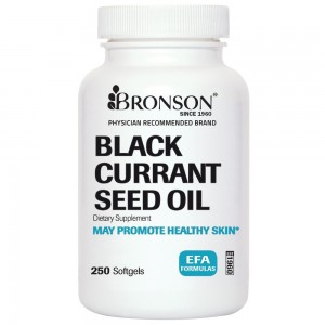 Bronson Vitamins Bronson Labs: Vegetarian Black Currant Seed Oil 535 Mg 250 Softgels, 250 Day Supply, Made in USA