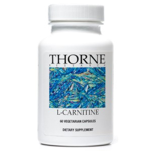 Thorne Research - L-Carnitine - Amino Acid Supplement for Heart and Skeletal Muscle Support - 60 Capsules