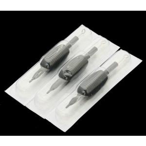 eyepowersupplies 25 DISPOSABLE TATTOO NEEDLES TUBE GRIPS ROUND LINER 7RL BY FANCIER STUDIO RL7 KIT