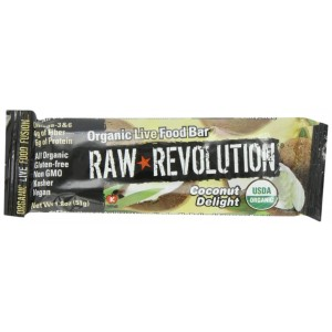 Raw Revolution Bar, Coconut Agave Gluten Free Dairy Free, 2.2-Ounce (Pack of 4)