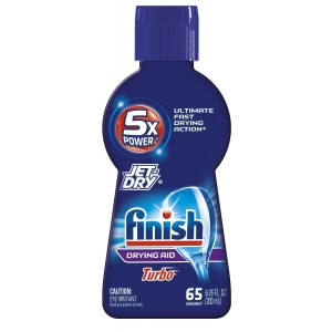 Finish Jet Dry Turbo Dry Rinse Aid, Dishwasher Drying Agent, 6.76 Ounce (Pack of 2)