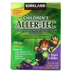 Kirkland Signature Children's Aller-Tec Cetirizine Hydrochloride 1 Mg/Ml, Grape, 16 Ounce (2 count)