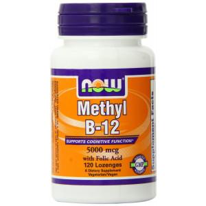 Now Foods Methyl B-12 Lozenges, 5000 mcg 120 Count